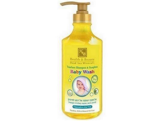 Детский шампунь и гель для душа Health & Beauty Tearless Shampoo and Soapless Chamomile and Aloe Vera Baby Wash 780 мл, арт.43985 1